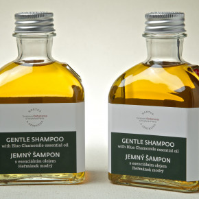 Gentle shampoo with Blue Chamomile essential oil