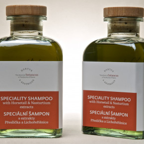 Speciality shampoo with  Horsetail & Nasturtium extracts